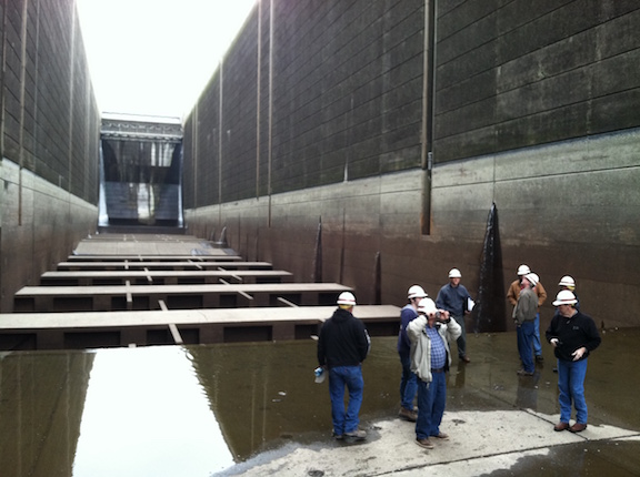 A Navigation Lock tour during extensive repairs in 2013.