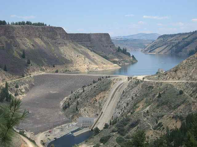 Anderson Ranch Dam and Anderson Ranch Reservoir in Elmore County, Idaho.
