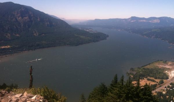A view of the Columbia River from Washington's Wind Mountain. A new bill would authorize $50 million for pollution cleanup in the Northwest's biggest river basin. (David Steves photo)