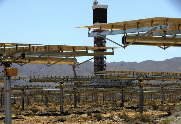 Solar power installation at Ivanpah