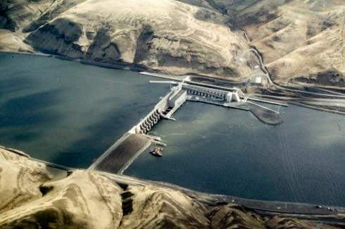 Little Goose Dam on the Lower Snake River dam.