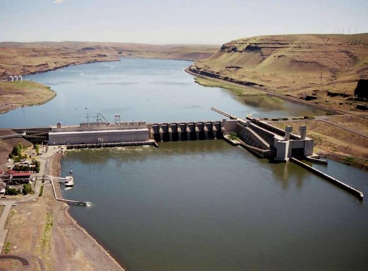 An environmental review is considering whether to breach four lower Snake River dams, including Lower Monumental Dam near Kahlotus. (Photo Courtesy Army Corps of Engineers)