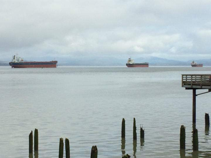 Ships that were bound for Portland are instead anchored up near Astoria while they wait for the port closure to pass.
