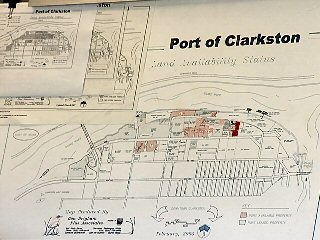 A drawing of the Clarkston Port area.