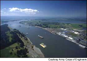 The Columbia River, where restoring salmon has become a regional issue.