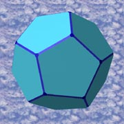 a dodecahedron has 12 faces and 20 vertices at pentagonal faces