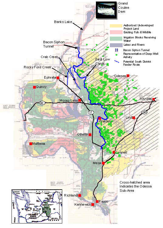 Columbia Basin Project Map