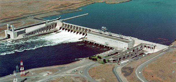 Ice Harbor Dam on the lower Snake River in southeast Washington state.