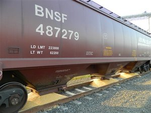 EGT Terminal grain dumped from rail cars during a union dispute at the Port of Longview in Longview, Wash., Thursday, Sept. 8, 2011.