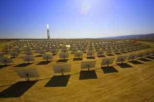 Google joins a growing list of companies that will no longer back solar thermal plants like this Brightsource installation.