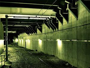 Pictured here a concrete tunnel, cement in nearly everywhere man goes and it produces one ton of CO2 for every ton of cement made.